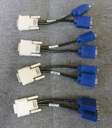 4 x HP 338285-008 Bizlink 08 42 DMS-59 To Dual VGA Splitter Cable
